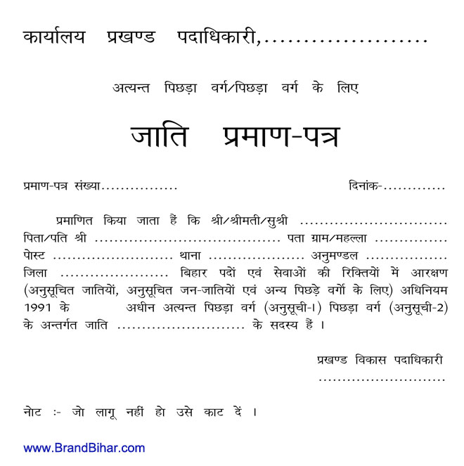 New application form for birth certificate in bihar certificate for in bihar birth form application yelopaper Choice Image