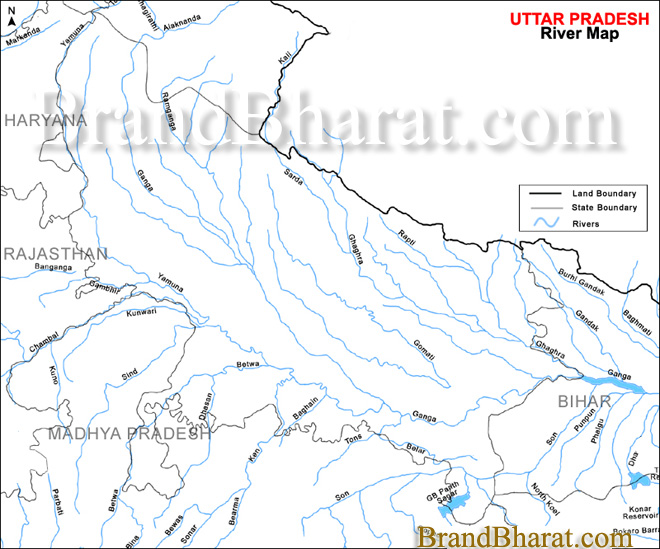 Worksheet. Uttar Pradesh River Map BrandBharatcom