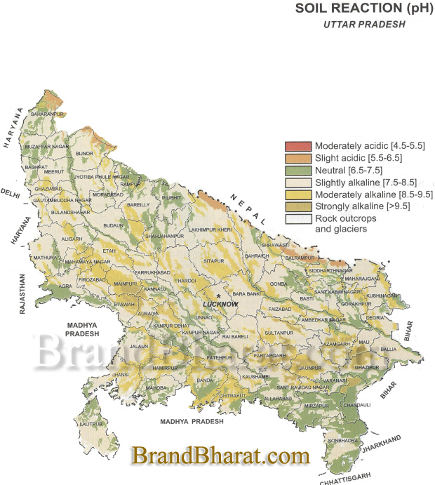 Map Up.Uttar Pradesh Soil Map Brandbharat Com