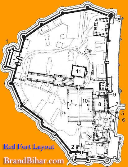 Red Fort layout