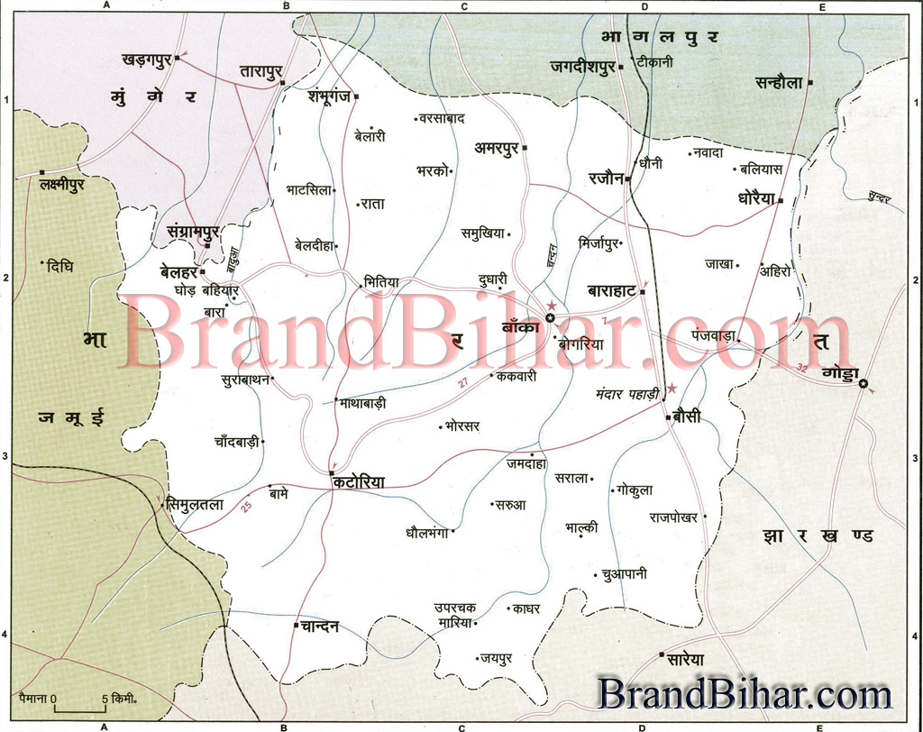 banka Map Map of banka Bihar banka District Map