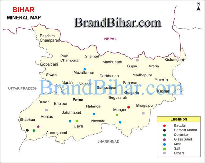 Map of Bihar Mineral