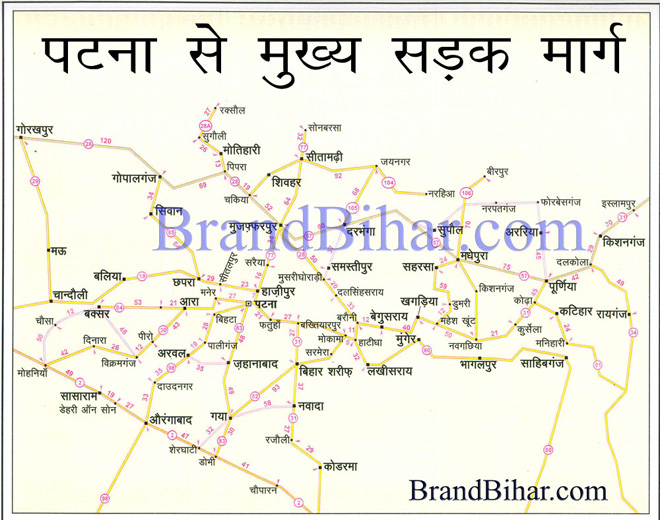 Road map of bihar