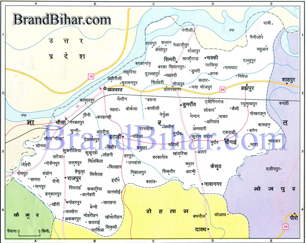 Worksheet. buxar Map of buxar Bihar buxar District Map