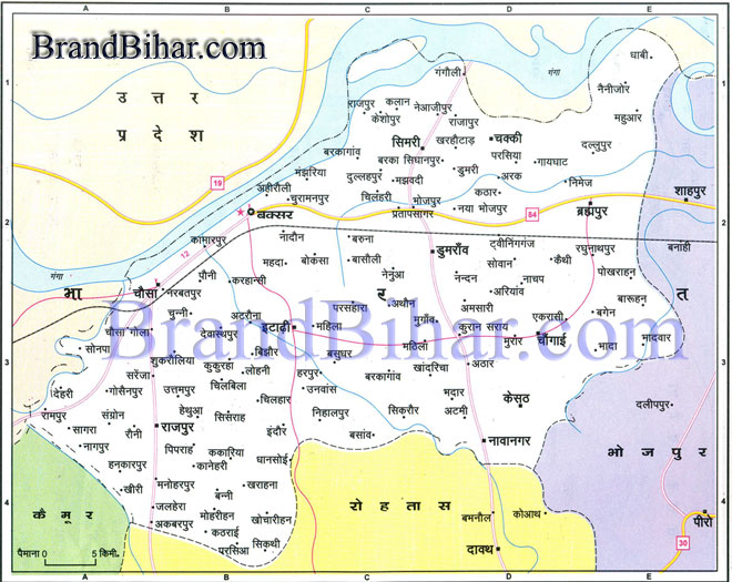 Click on the Map of Buxar to see the largeView of Buxar Map