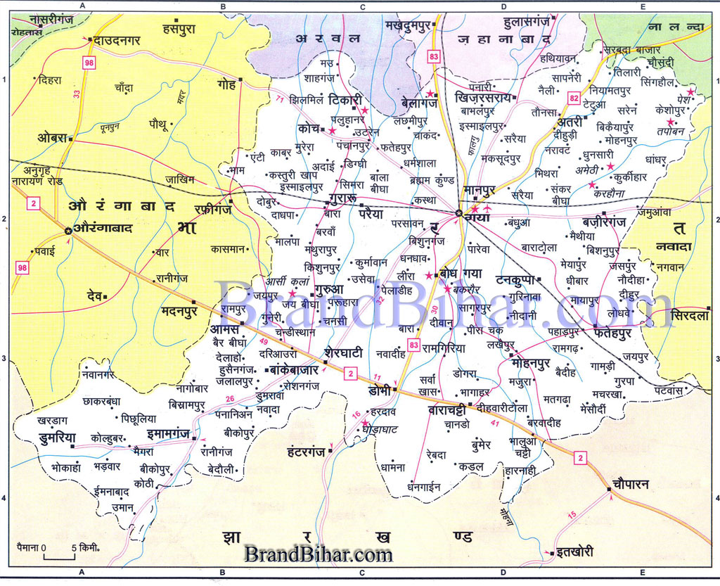 gaya Map of gaya Bihar gaya District Map