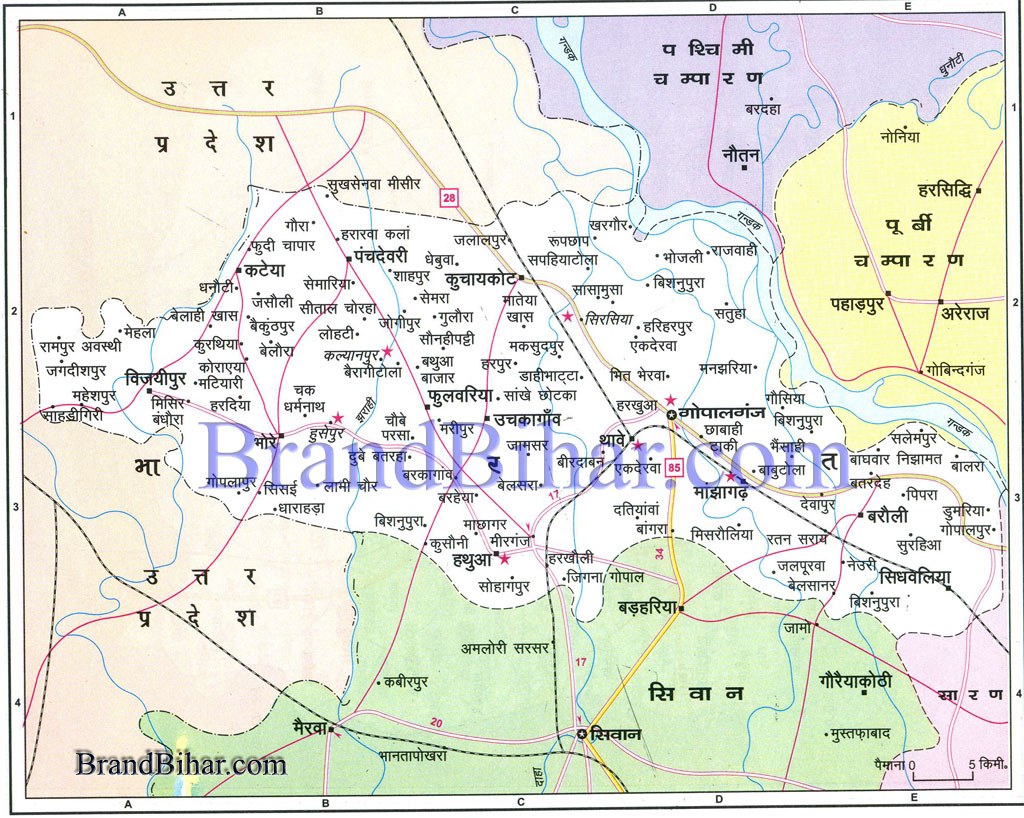Map of gopalganj