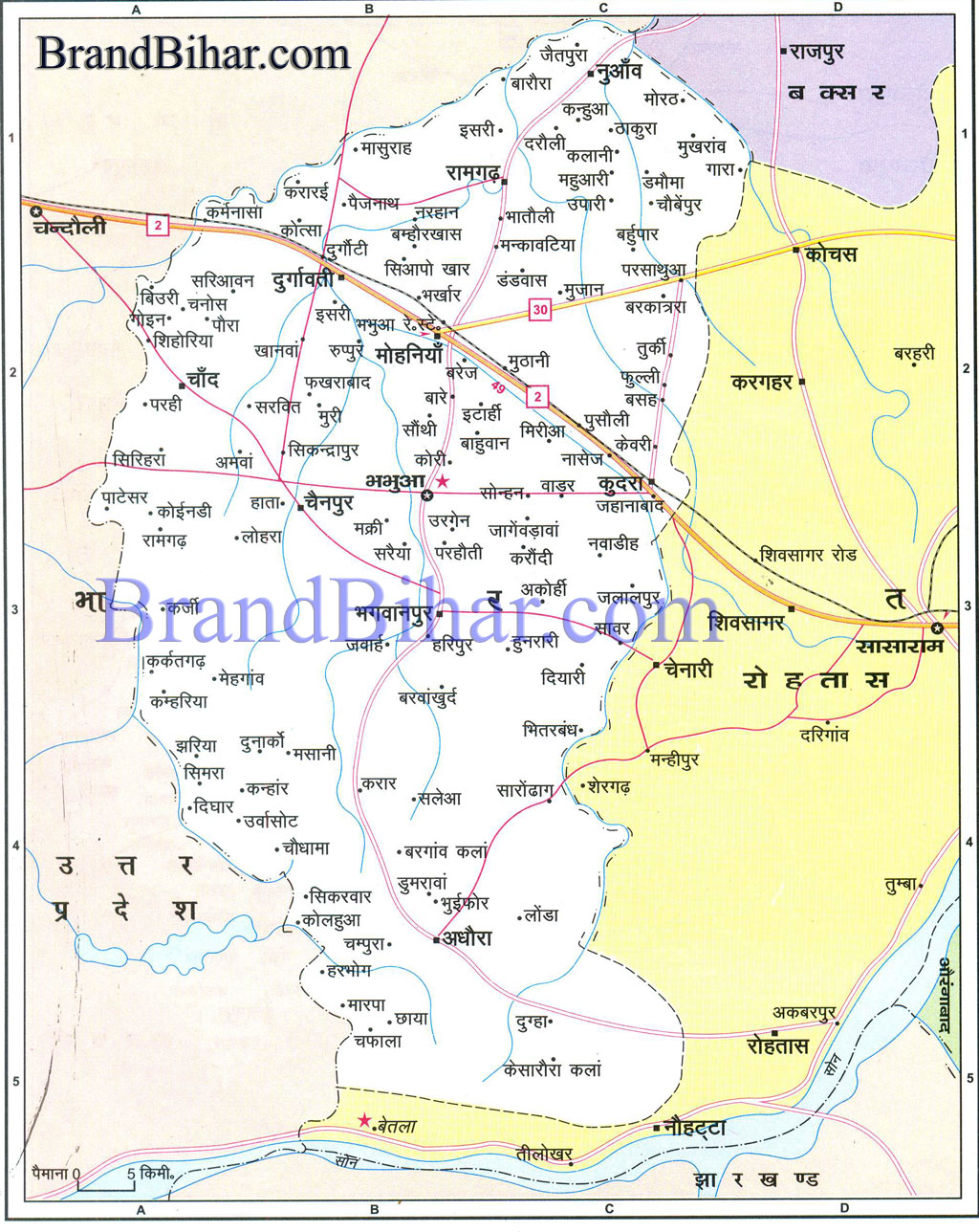 bhabhuar Map Kaimu Map of bhabhua Bihar bhabhua District Map