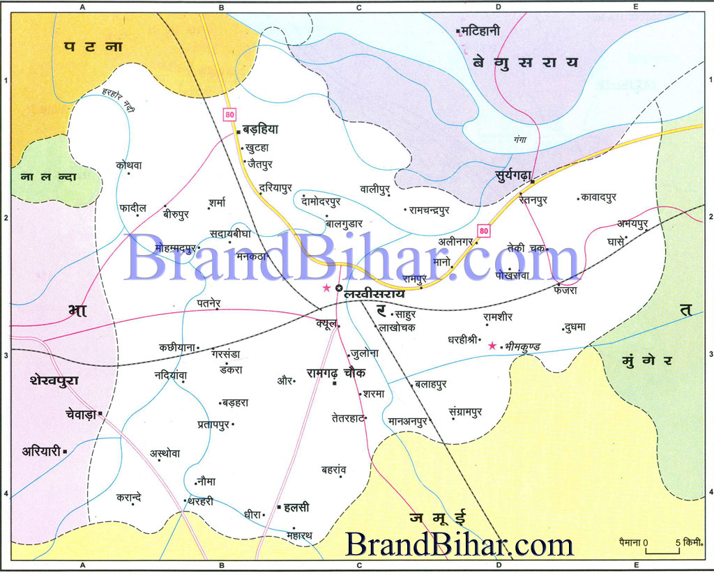 lakhisarai Map of lakhisarai Bihar lakhisarai District Map