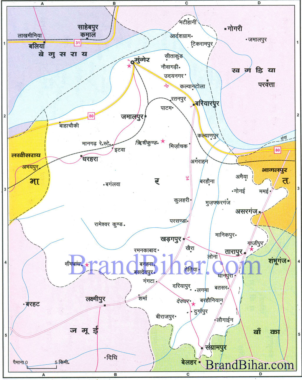 munger Map of munger Bihar munger District Map Monghyr Munger