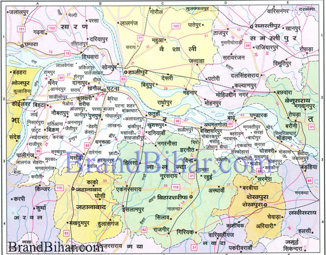Map of patna bihar patna district map click on the map of patna to see the large view of patna map gumiabroncs Images