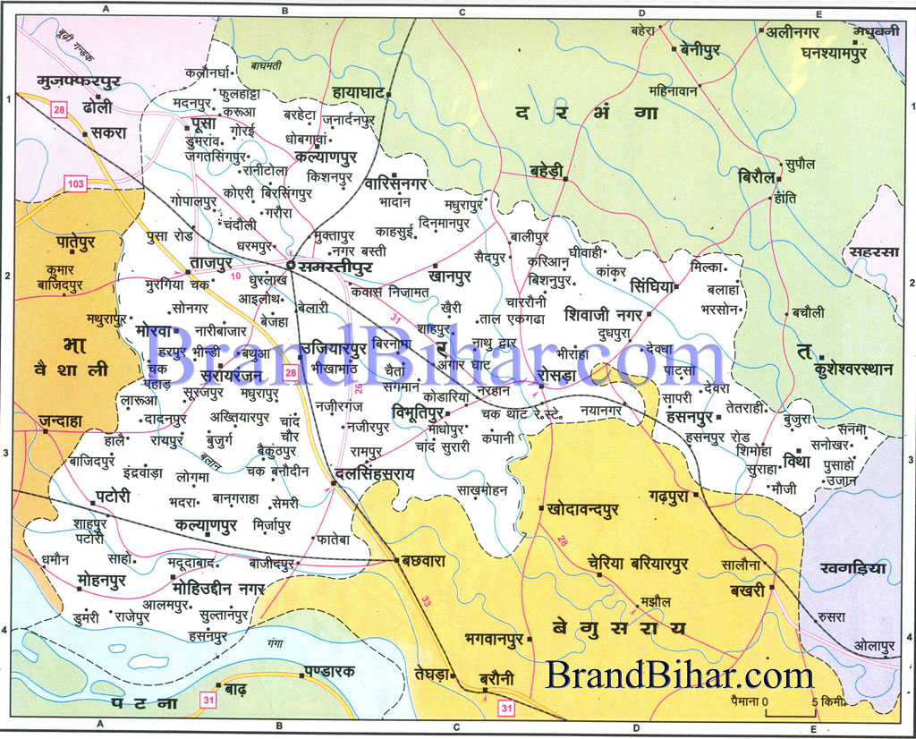 Map of samastipur