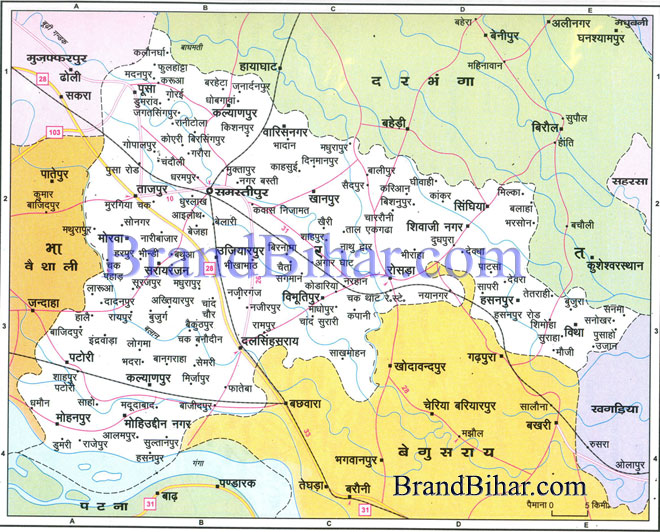 Click on the Map of Samastipur to see the large View of Samastipur Map