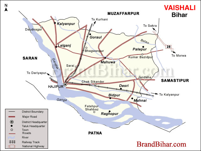 Worksheet. Map of vaishali Bihar vaishali District Map