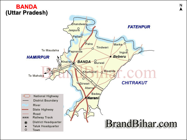 Banda Map Map of Banda Uttar Pradesh Banda District Map