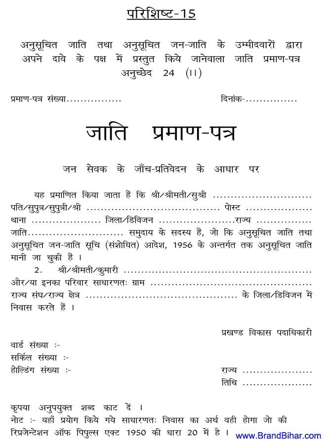 Aay Praman Patra Form Pdf Rajasthan