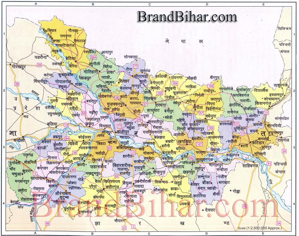 Bihar Political Map Bihar Political Map, political map of bihar